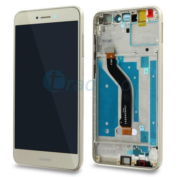 Huawei P8 Lite 2017 Display Einheit, LCD, Rahmen Gold