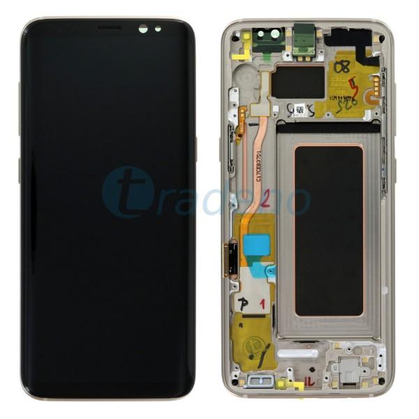 Samsung G950F Galaxy S8 Display Einheit, LCD, Rahmen Gold