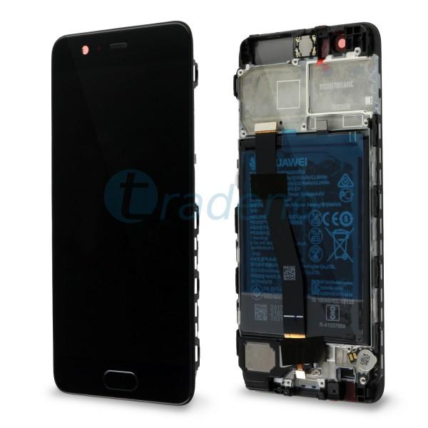 """Huawei Ascend P10 Display Einheit, LCD """"Bestückt"""" Serviceware, Schwarz"""