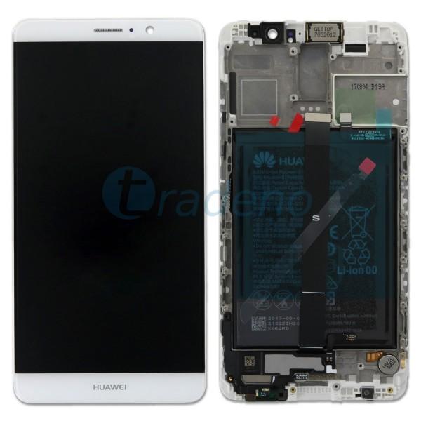 """Huawei Ascend Mate 9 Display Einheit, LCD """"Bestückt"""" Silber / Weiß , Service Pac"""