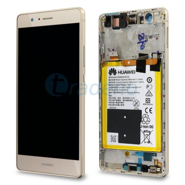 "Huawei Ascend P9 Lite Display Einheit, LCD ""Bestückt"" Serviceware, Gold"