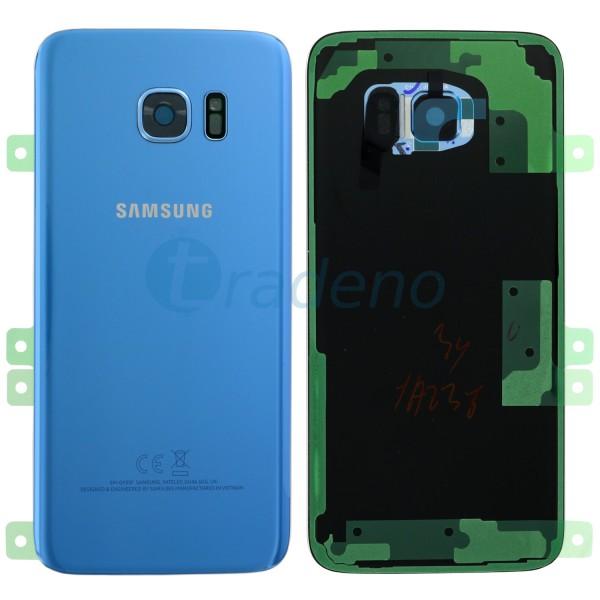 Samsung G935F Galaxy S7 Edge Akkudeckel, Batterie Cover Korall Blau