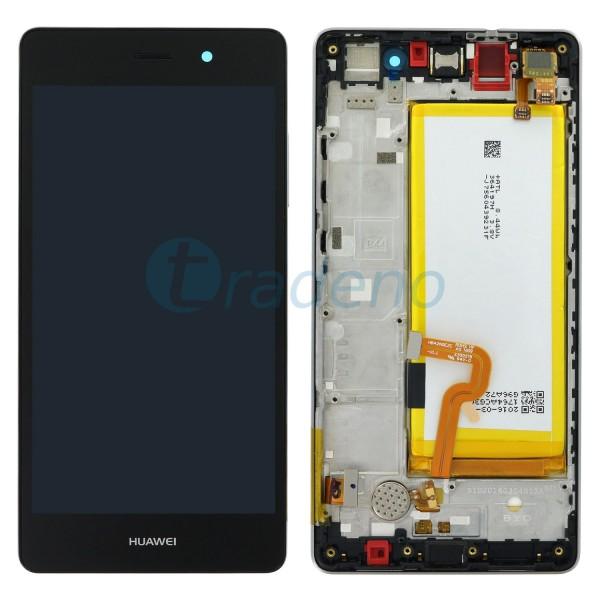 """Huawei P8 Lite Display Einheit, LCD """"Bestückt"""" Serviceware, Schwarz"""
