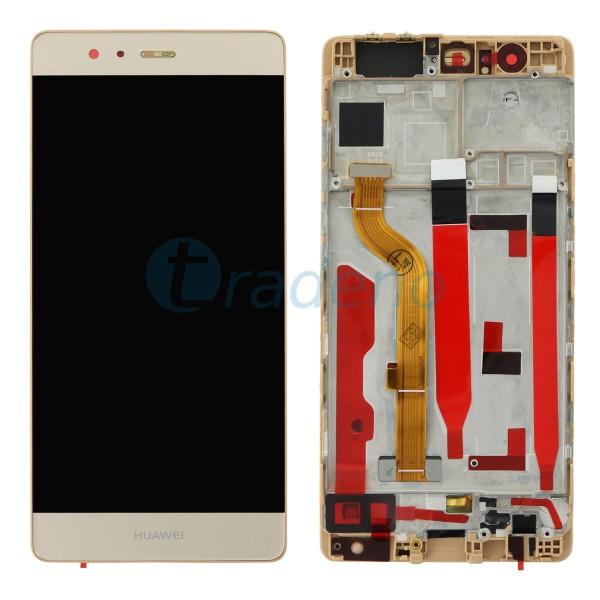 Huawei P9 Display Einheit, LCD, Rahmen Gold