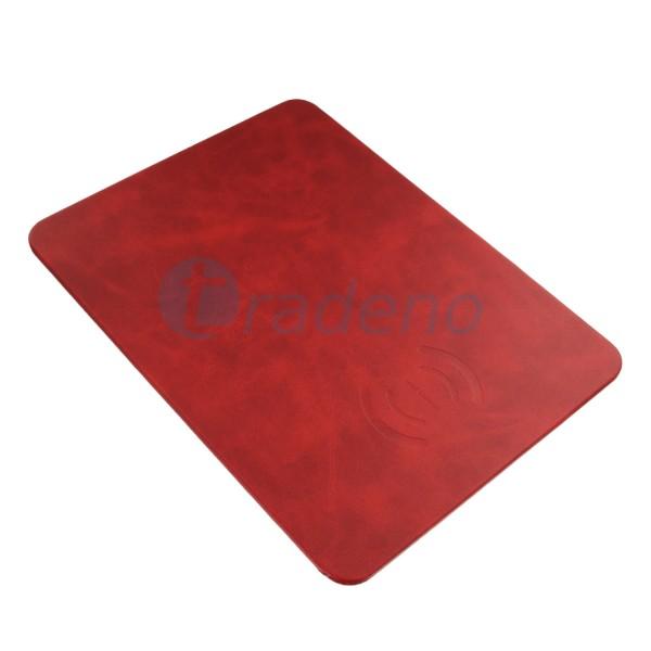 Xuenair Mouse Pad mit Wireless Ladegerät - Rot