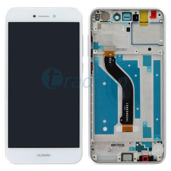 Huawei P8 Lite 2017 Display Einheit, LCD, Rahmen Weiss