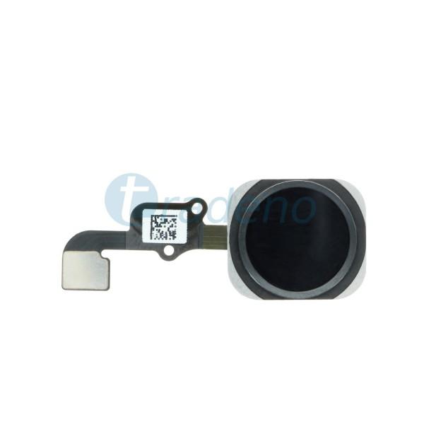 Homebutton Flex Komplett + Fingerabdruck Sensor für iPhone 6S Schwarz