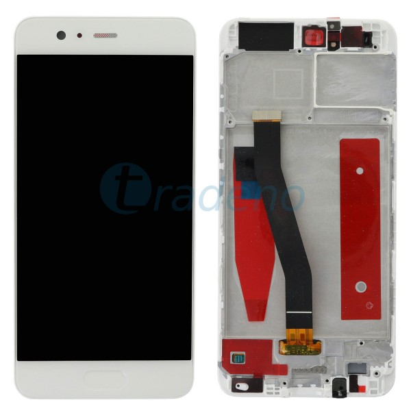 Huawei Ascend P10 Display Einheit, LCD, Rahmen Weiss