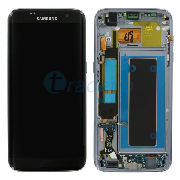 Samsung G935F Galaxy S7 Edge - Display Einheit Schwarz - LCD + Touchscreen + Rah