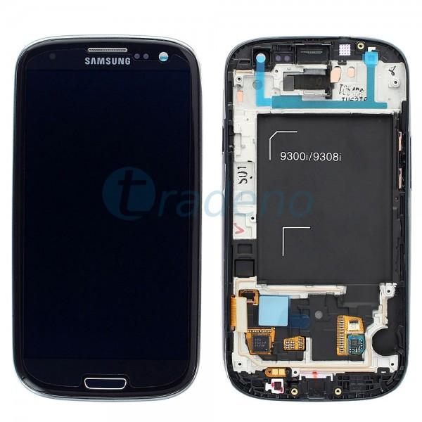Samsung I9301 Galaxy S3 Neo - Display Einheit - LCD + Touchscreen + Rahmen, Schw