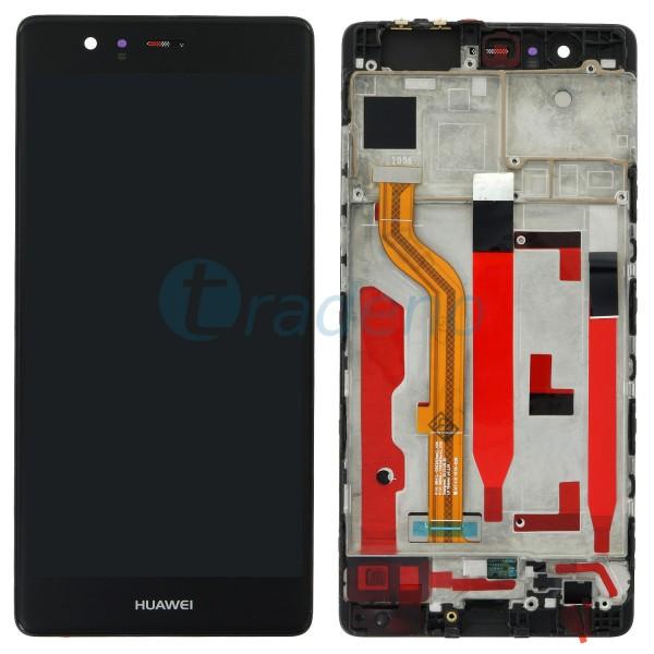 Huawei P9 Display Einheit, LCD, Rahmen Schwarz