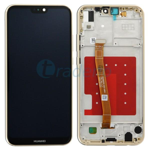 Huawei P20 Lite Display Einheit mit Rahmen Gold