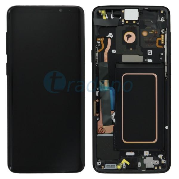 Samsung SM-G965F Galaxy S9 Plus Display Einheit ink. Rahmen Schwarz