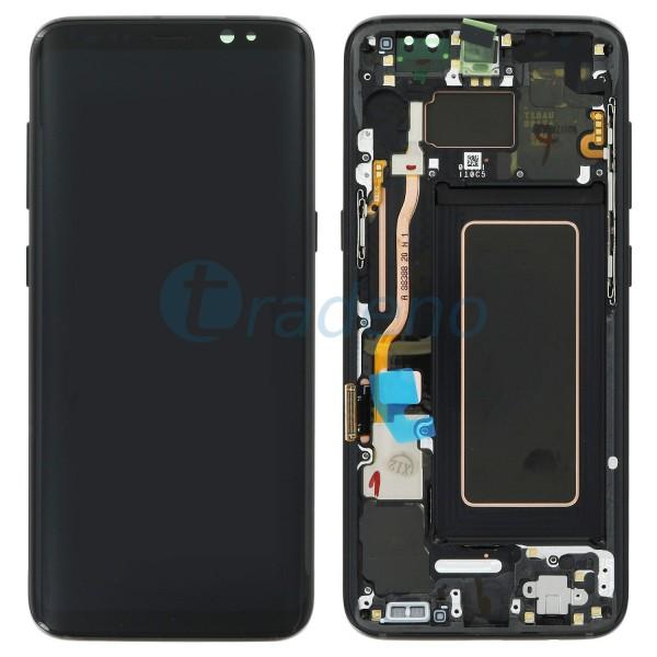 Samsung G950F Galaxy S8 Display Einheit, LCD, Rahmen Schwarz