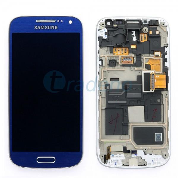 Samsung I9195 Galaxy S4 Mini - Display Einheit - LCD + Touchscreen + Rahmen, Bla