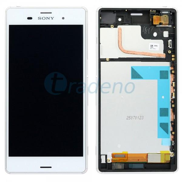 Sony Xperia Z3 D6603 - Display Einheit - LCD + Touchscreen + Rahmen Weiss