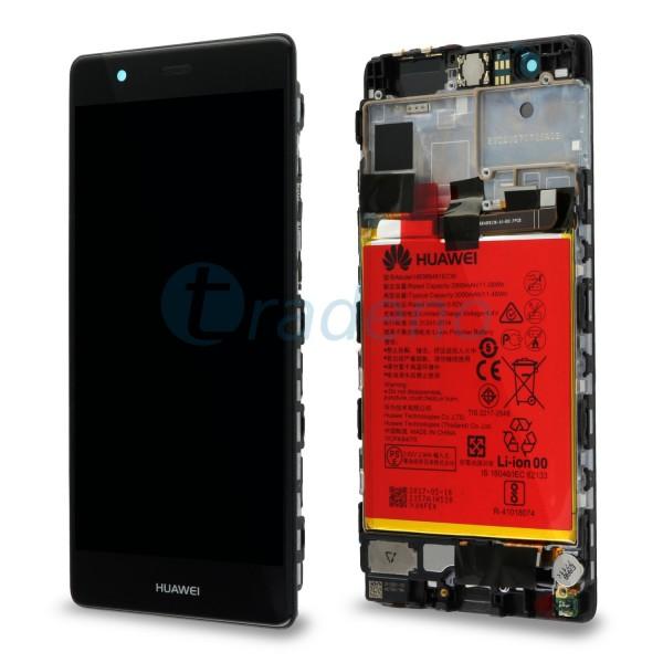 """Huawei Ascend P9 Display Einheit, LCD """"Bestückt"""" Serviceware, Schwarz"""