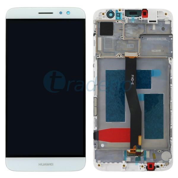Huawei Nova Plus Display Einheit, LCD, Rahmen Weiss
