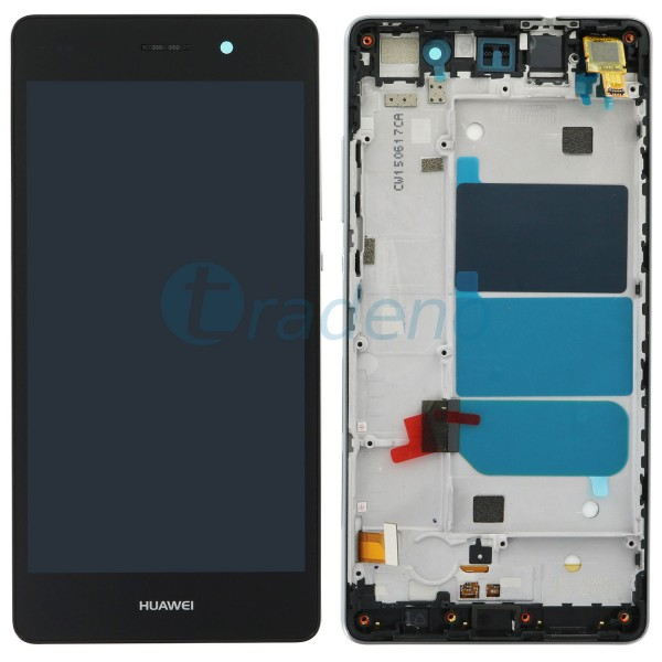 Huawei P8 Lite Display Einheit, LCD, Rahmen Schwarz