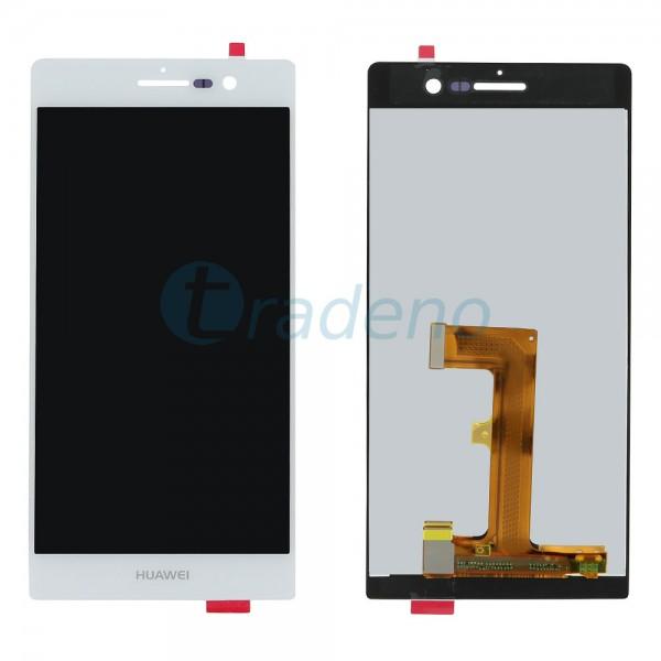 Huawei Ascend P7 - Display Einheit - LCD + Touchscreen + Rahmen Weiss