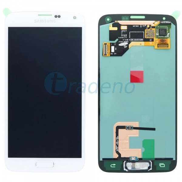 Samsung SM-G900F Galaxy S5 - Display Einheit Weiss - Touchscreen + LCD