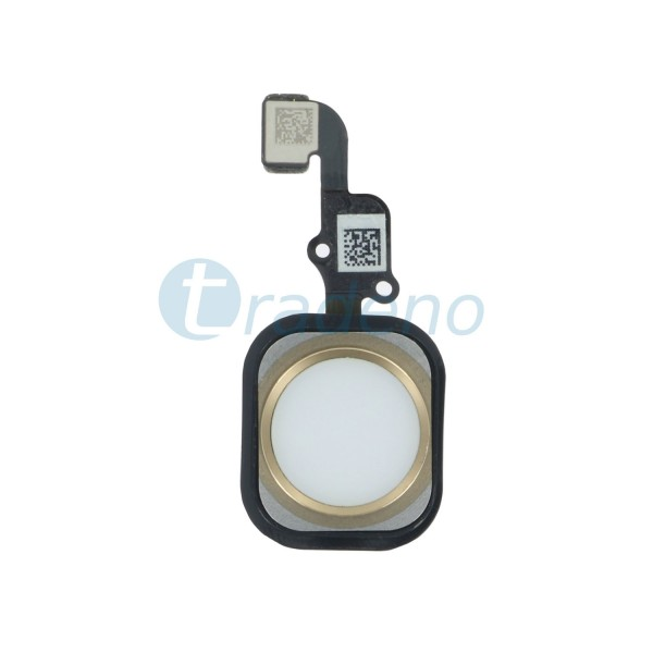 Homebutton Flex Komplett + Fingerabdruck Sensor iPhone 6S Plus - Gold