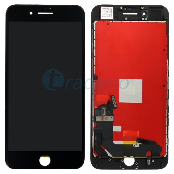 Display Einheit - Touchscreen + LCD + Rahmen Schwarz für iPhone 7 Plus
