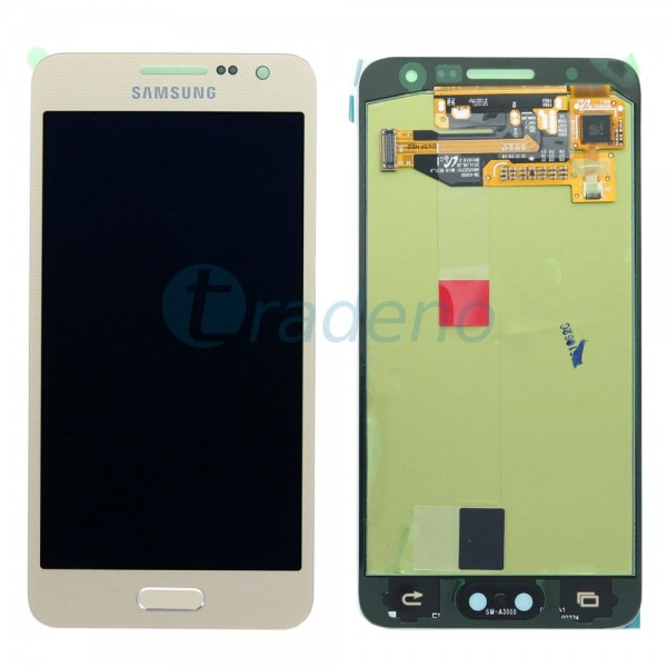 Samsung A300F Galaxy A3 - Display Einheit - Touchscreen + LCD, Gold