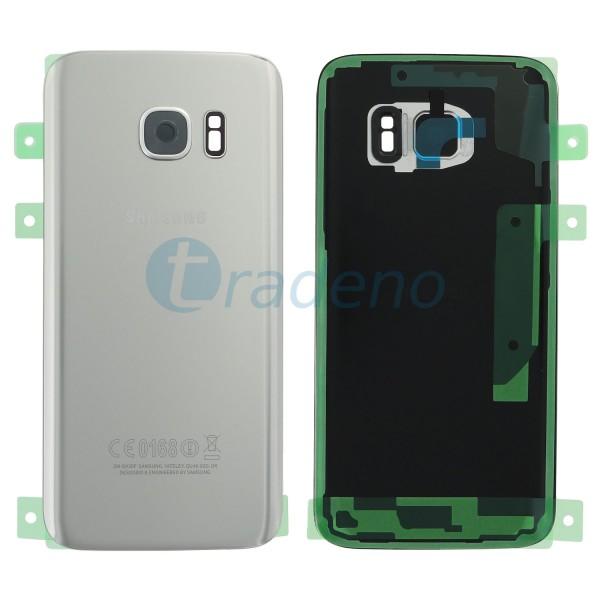 "Samsung G930F Galaxy S7 Akkudeckel, Batterie Cover ""Silber"" Service Pack"