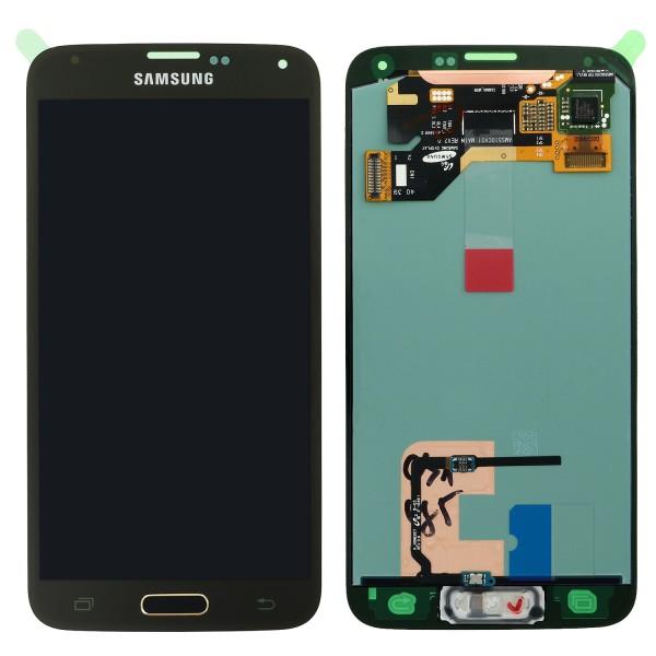 Samsung SM-G900F Galaxy S5 - Display Einheit Gold - Touchscreen + LCD