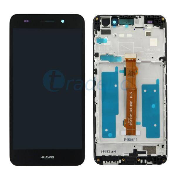 Huawei Y6 II Display Einheit, LCD mit Rahmen, Schwarz