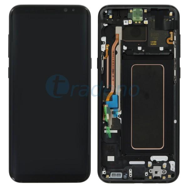Samsung G955F Galaxy S8 Plus Display Einheit, LCD, Rahmen Schwarz