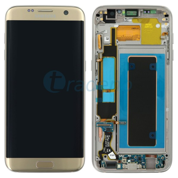 Samsung SM-G935F Galaxy S7 Edge - Display Einheit Gold - LCD + Touchscreen + Rah