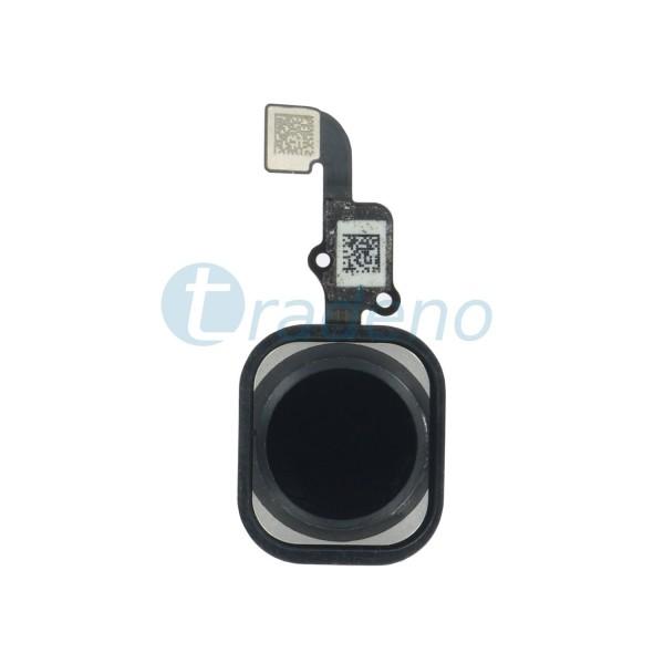 Homebutton Flex Komplett + Fingerabdruck Sensor für iPhone 6S Plus - Schwarz