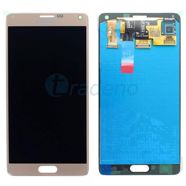 Samsung SM-N910F Galaxy Note 4 - Display Einheit Gold - Touchscreen + LCD
