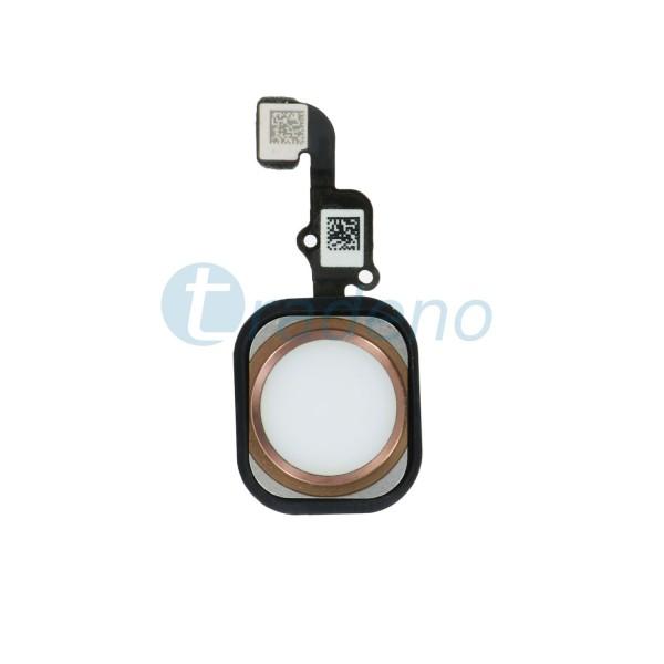 Homebutton Flex Komplett + Fingerabdruck Sensor für iPhone 6S Plus -Rose Gold