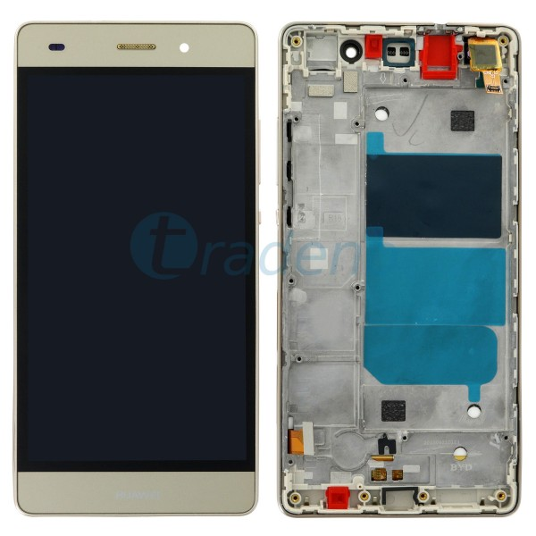 Huawei P8 Lite Display Einheit, LCD, Rahmen Gold
