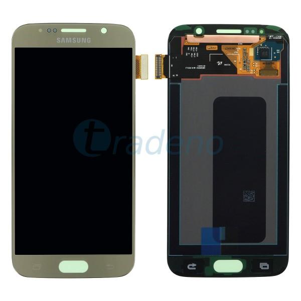 Samsung SM-G920F Galaxy S6 - Display Einheit Gold - Touchscreen + LCD