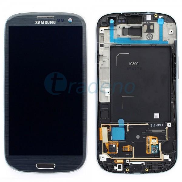 Samsung I9300 Galaxy S3 - Display Einheit - LCD + Touchscreen + Rahmen, Grau