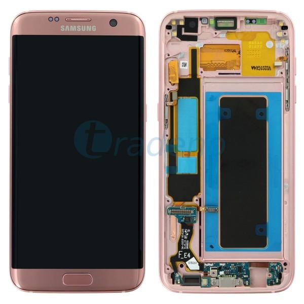 Samsung G935F Galaxy S7 Edge Display Einheit, LCD, Rahmen Rose Gold